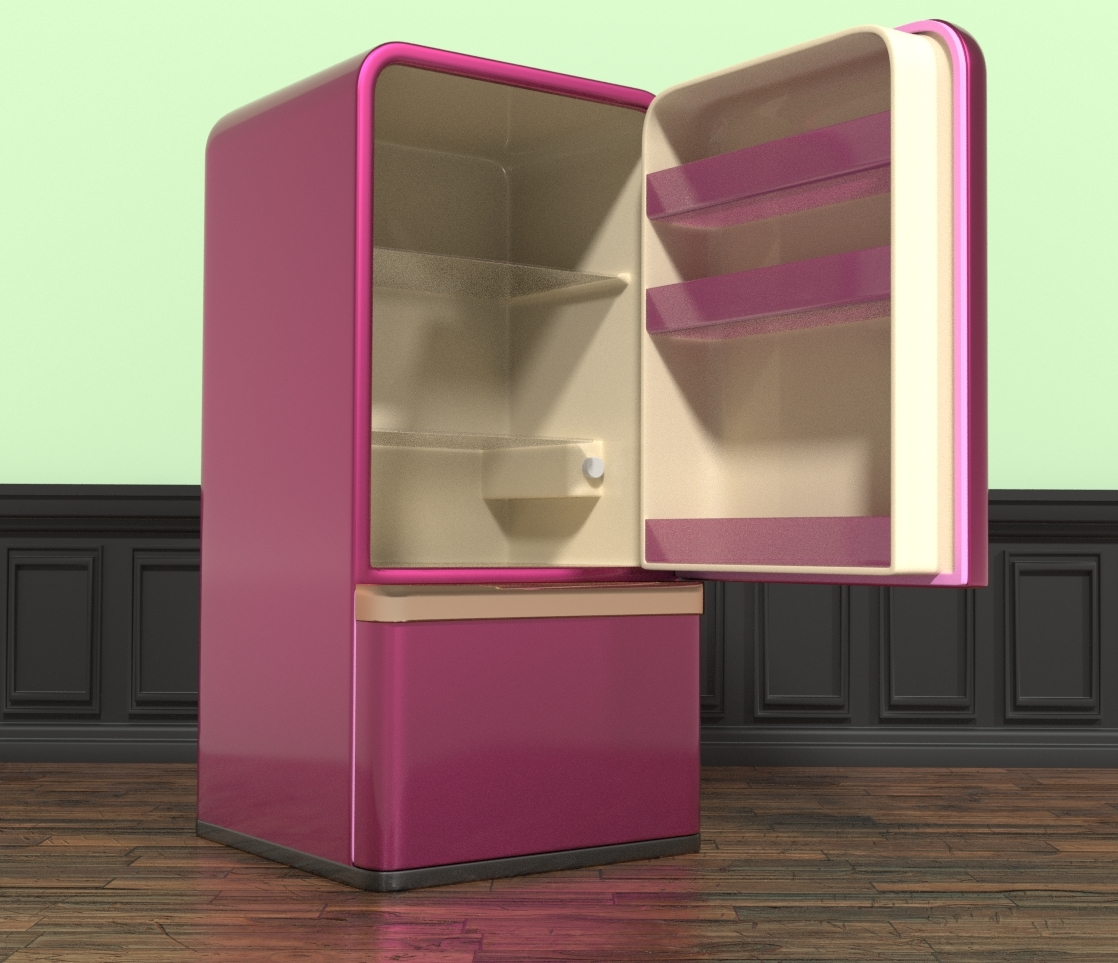 Elleque's Sexy Kitchen Cube Refrigerator Second Lo by Belit