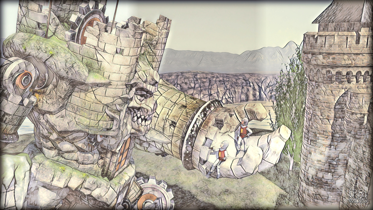 Castle Giant Sees Reason (illustration style)