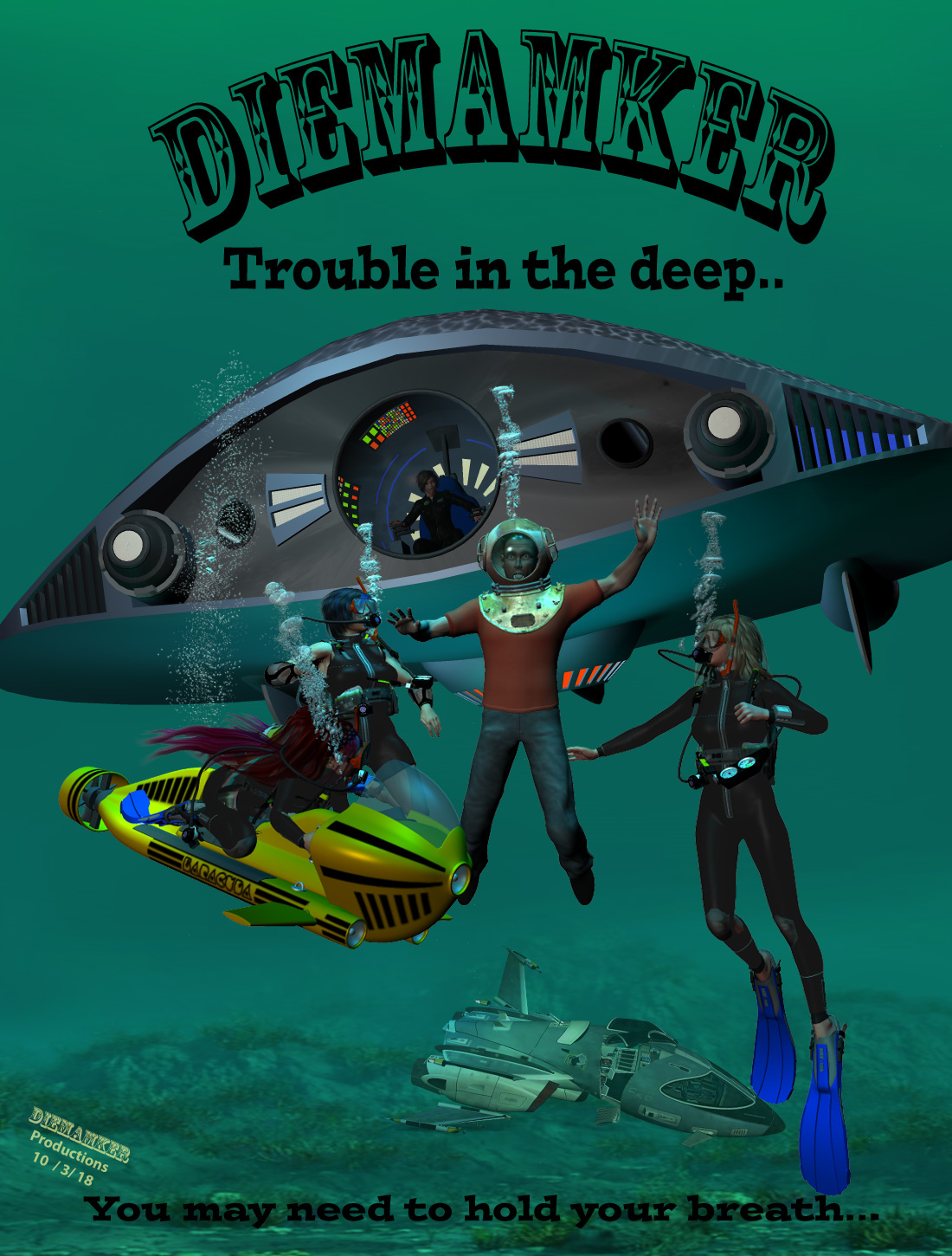 Trouble in the Deep... new Cover art..