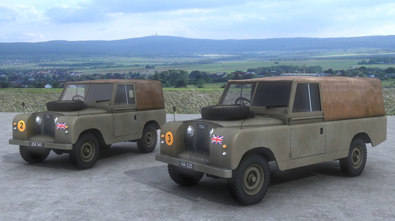 Land Rover Series II with 88inch and 109inch wheel by AliceFromLake