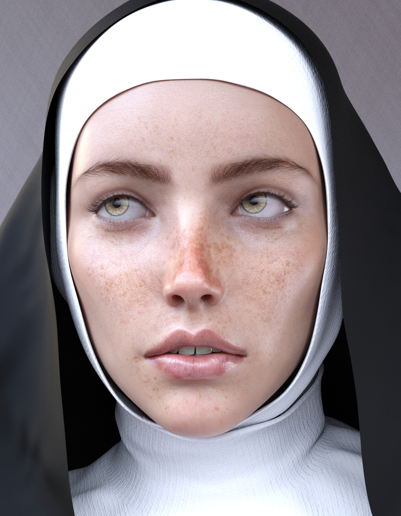 Sister Sylvia- Quick face render by Oddessian