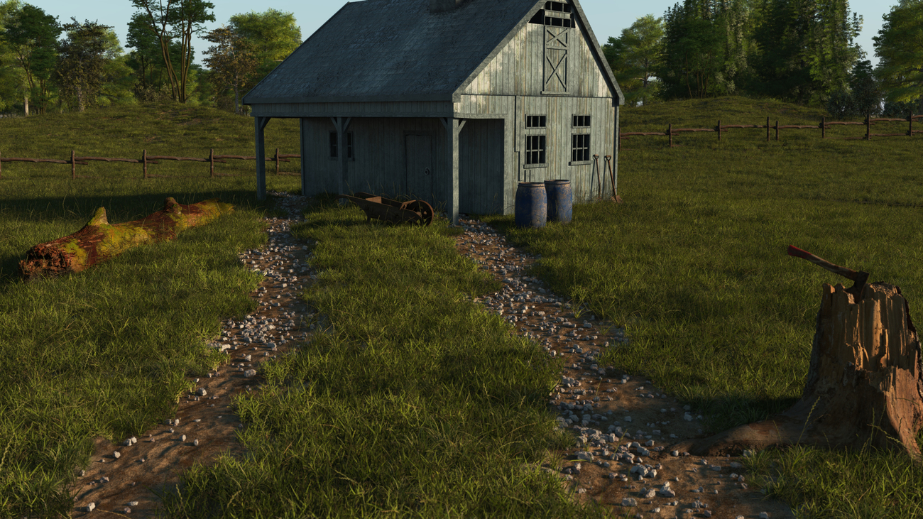 country barn by iborg64