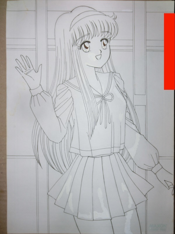 The girl drawn by a line drawing (Original art) by collon