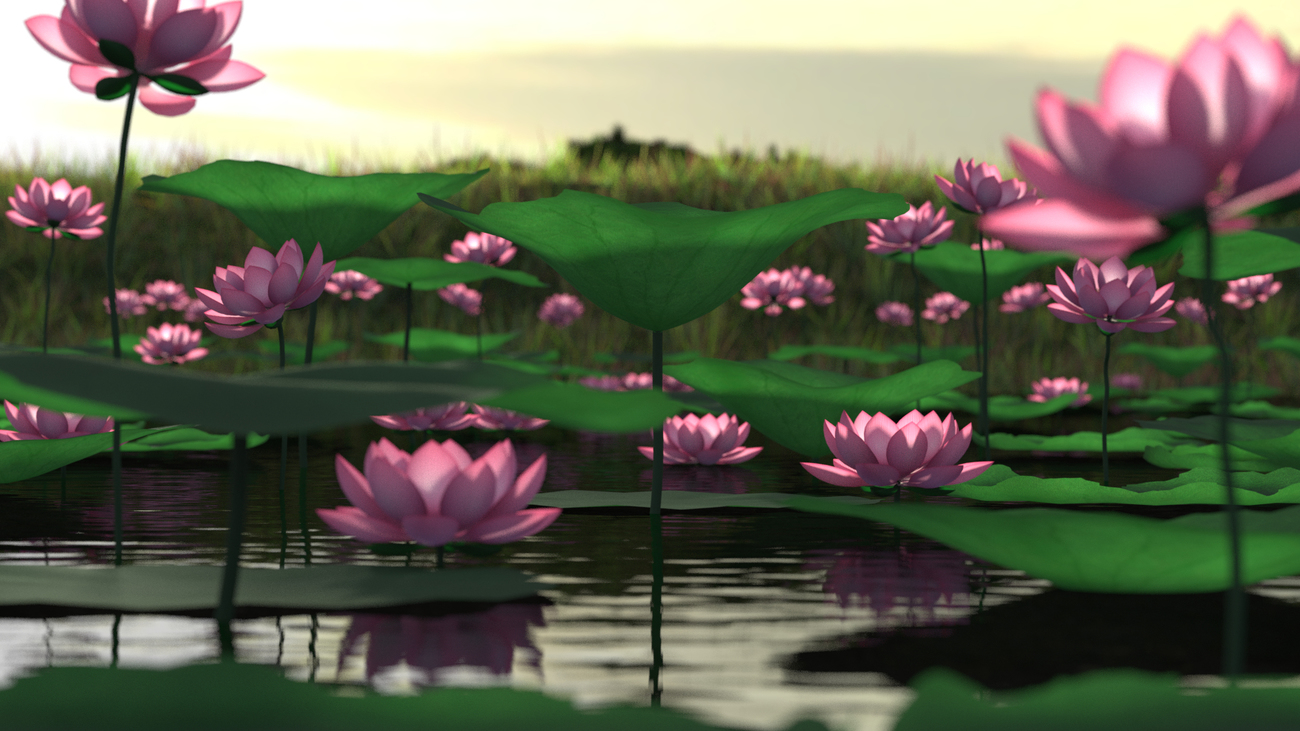 Lotus Pond by Minyassa
