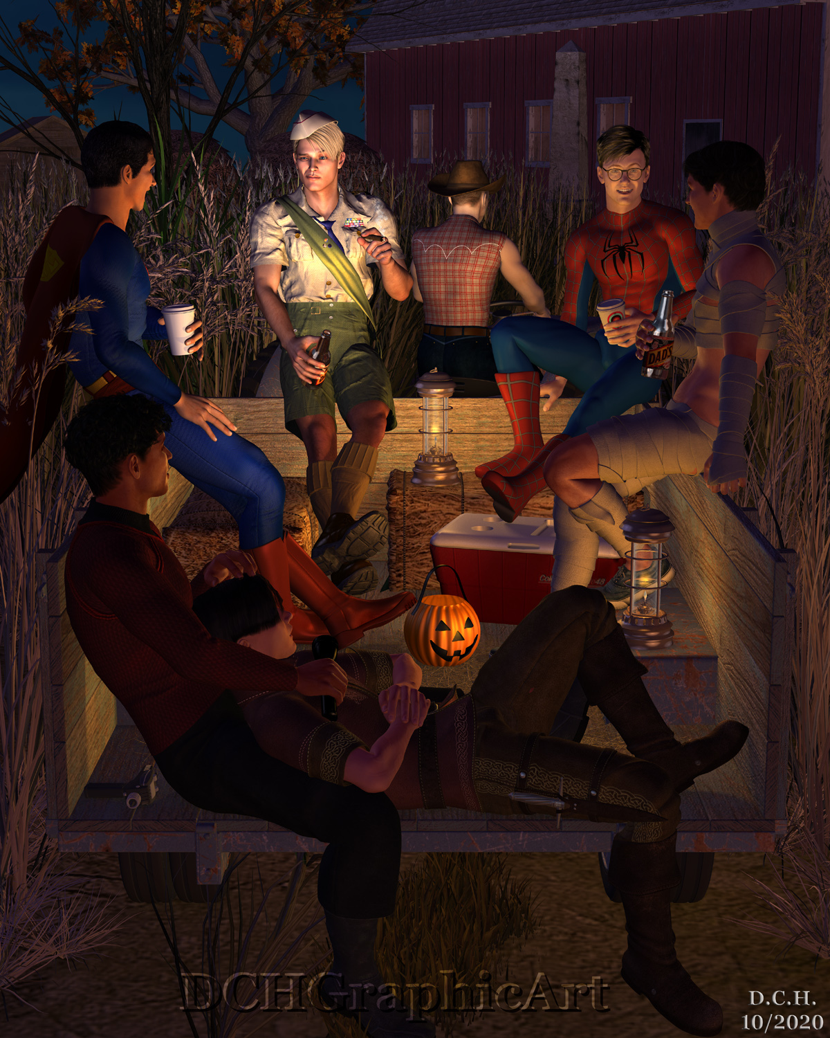 Halloween Hayride by uncollared