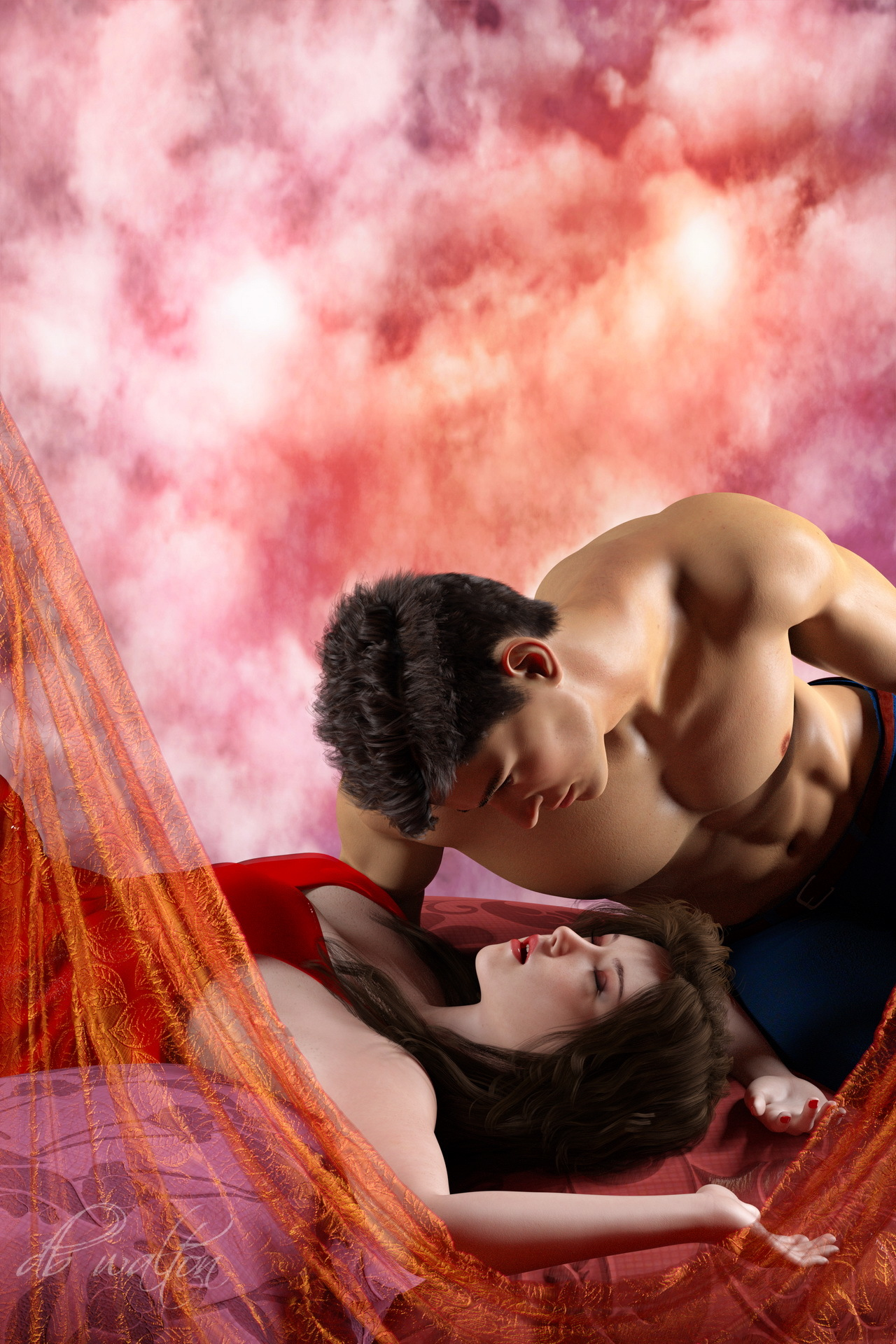 Romance on a Bed of Pillows I by dbwalton