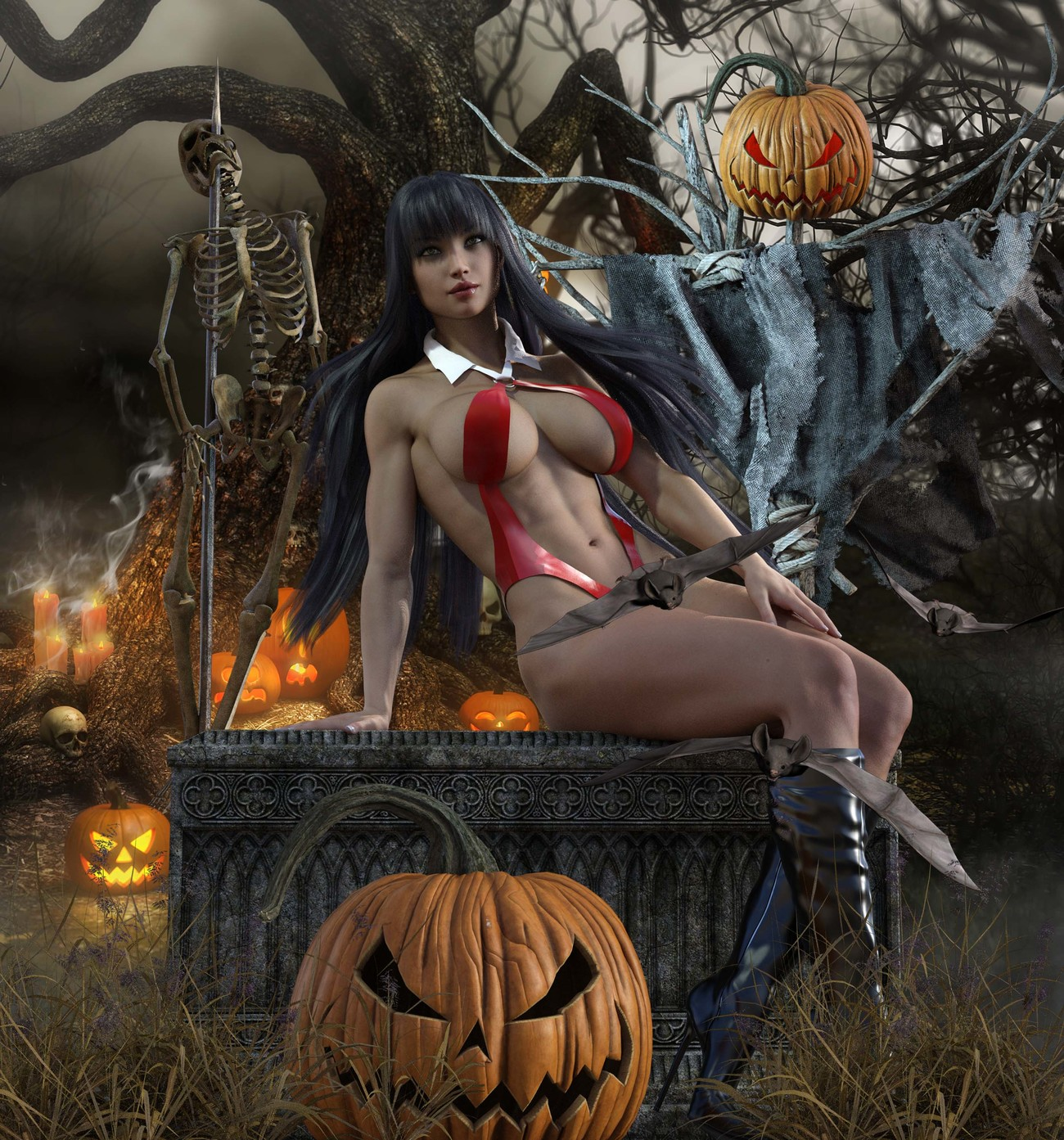 Halloween Pinup 20201025 by Tracesl