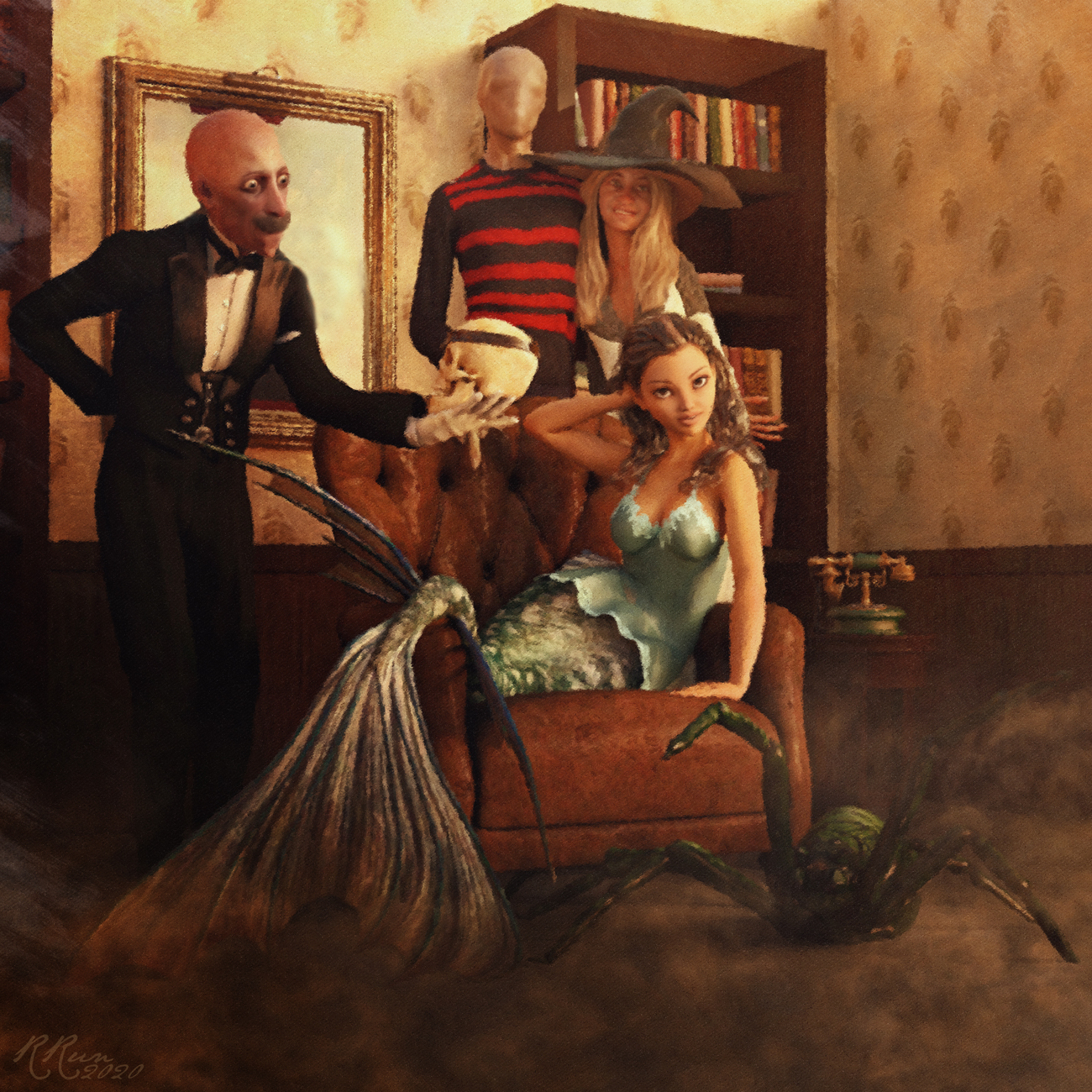 Halloween Familiy Portrait by RRun