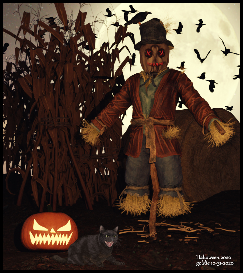 A Scarecrow for Halloween by goldie