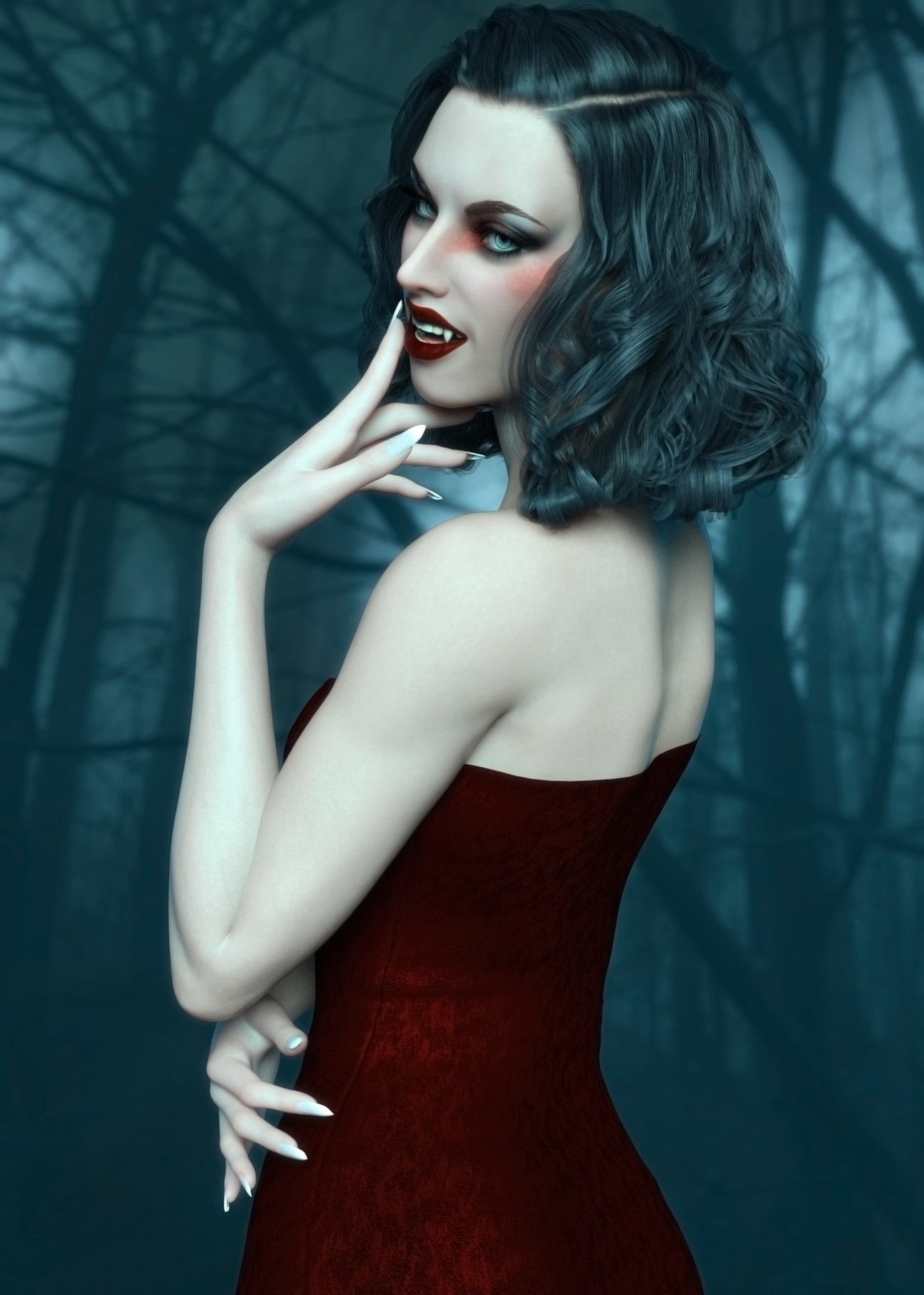 Portrait of a Vampire by LadyCarfax