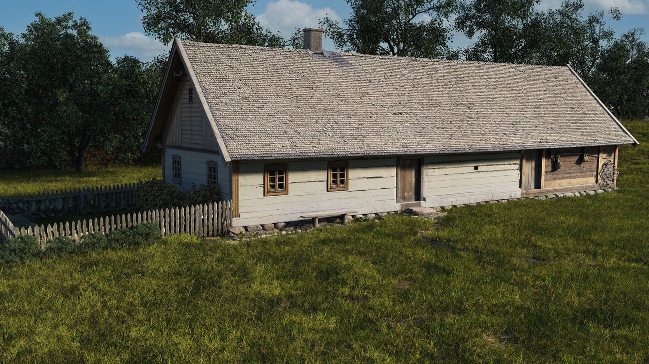 wooden house by iborg64