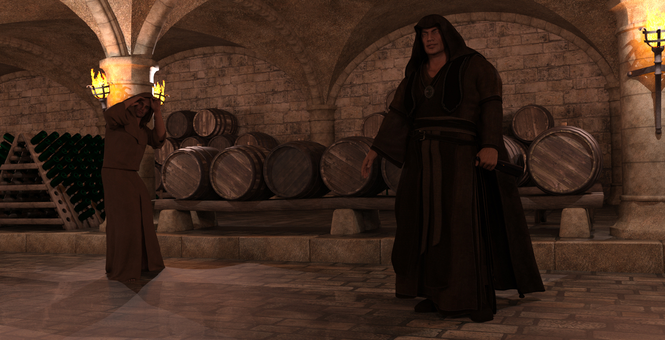 The wine-blessed cellar master sings indecent song by Blue_Steel