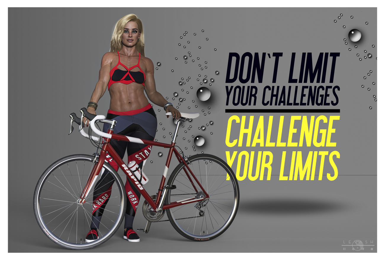 BICYCLE FITNESS POSTER by ASimple3DGuy