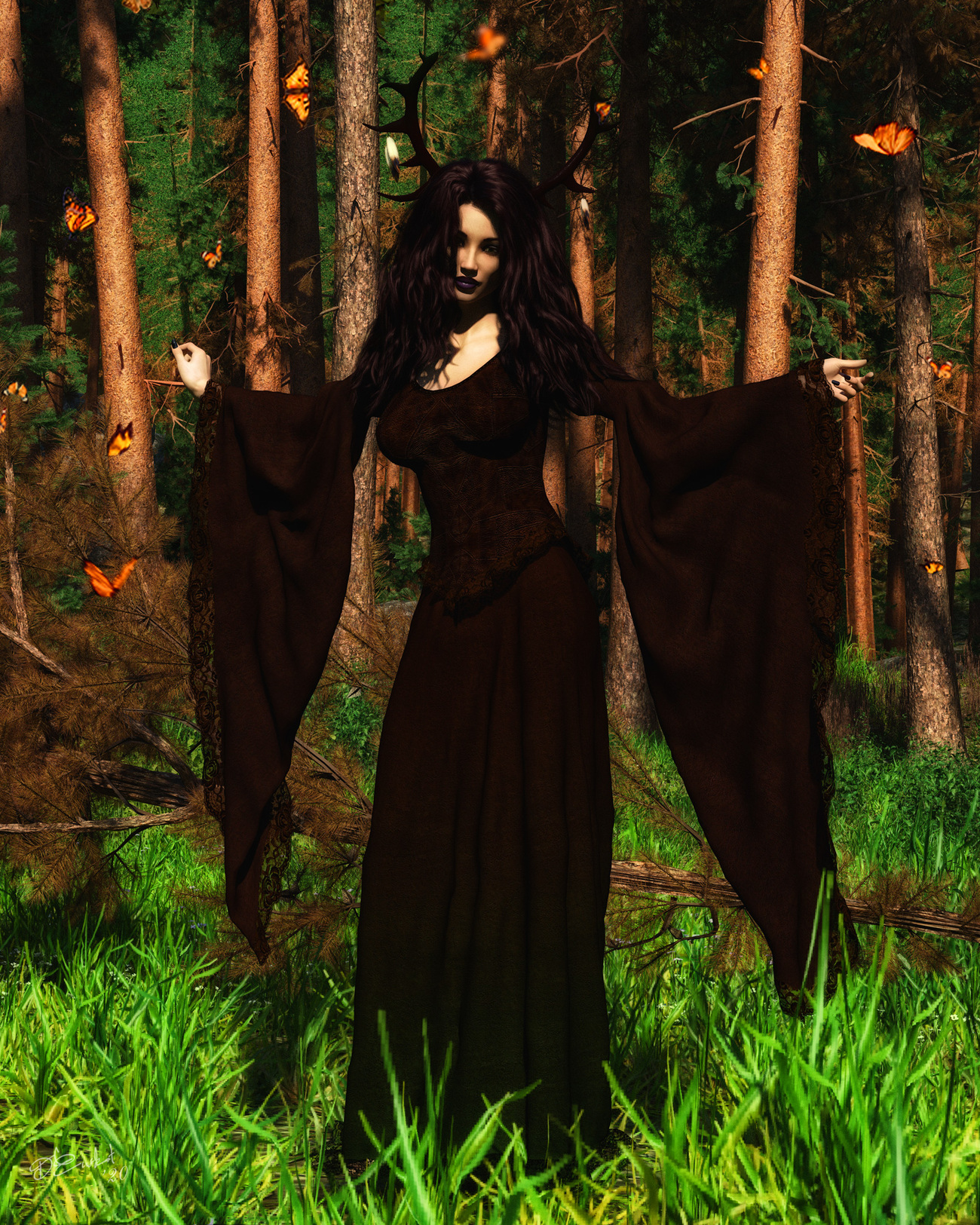 Witch of the woods by LadyNightVamp