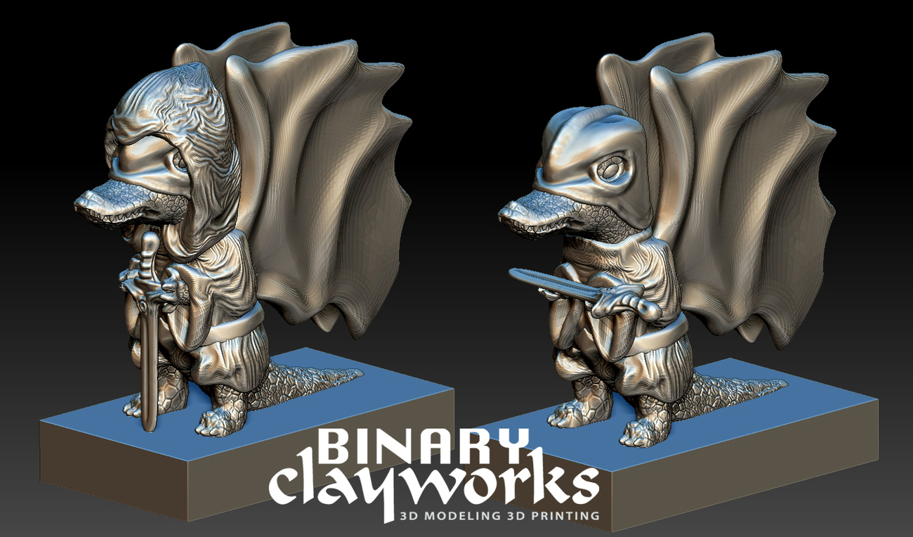 Swamp Scout Fantasy Character by Binary Clayworks