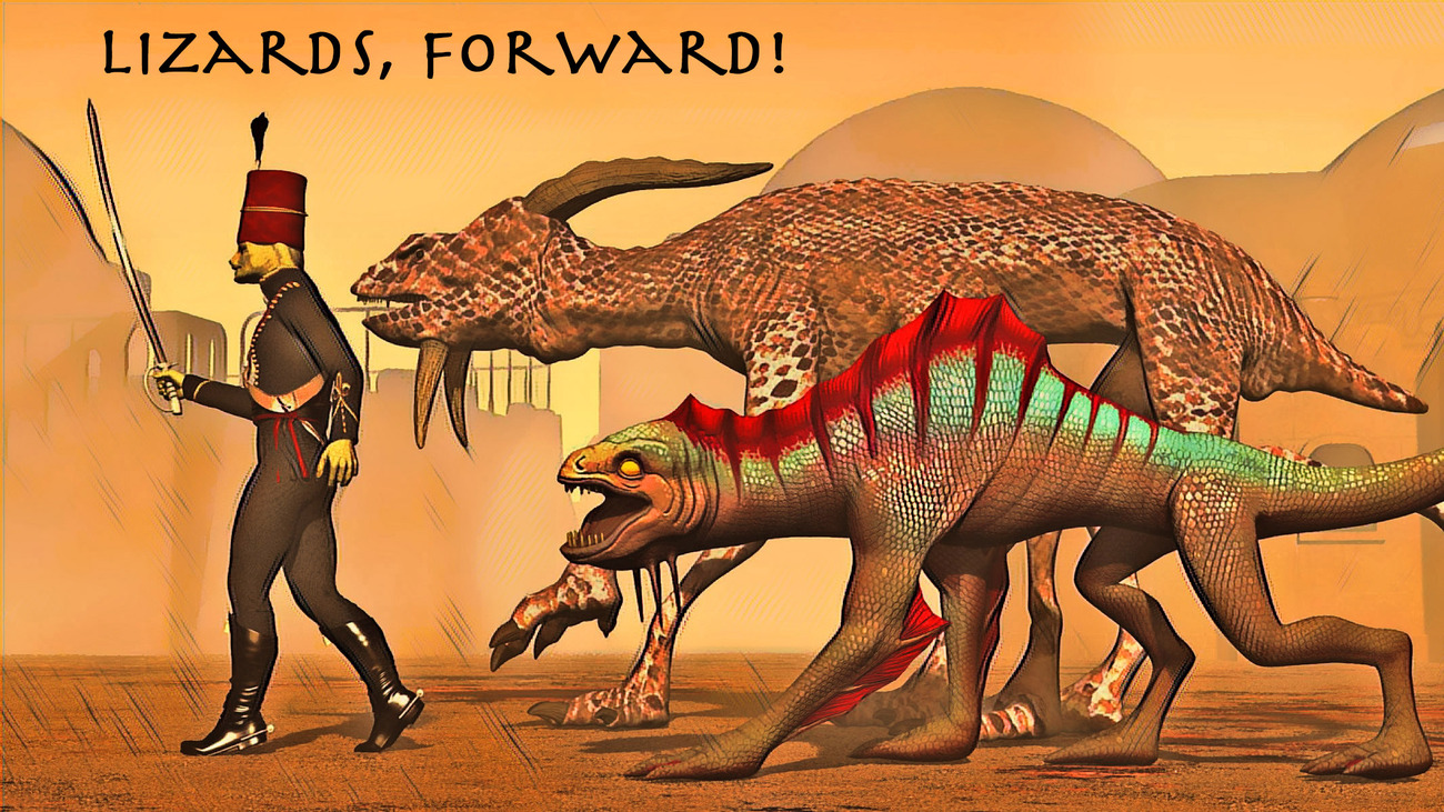 Lizards, Forward! (Version 2) by rps53