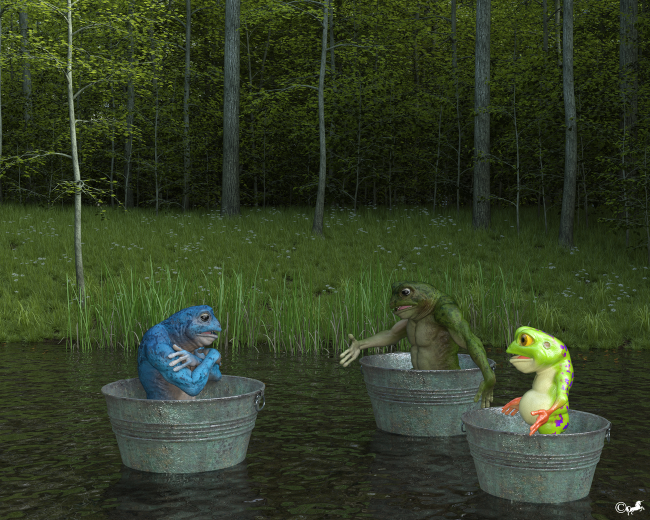 DAZ 917 or Frog race by miwi