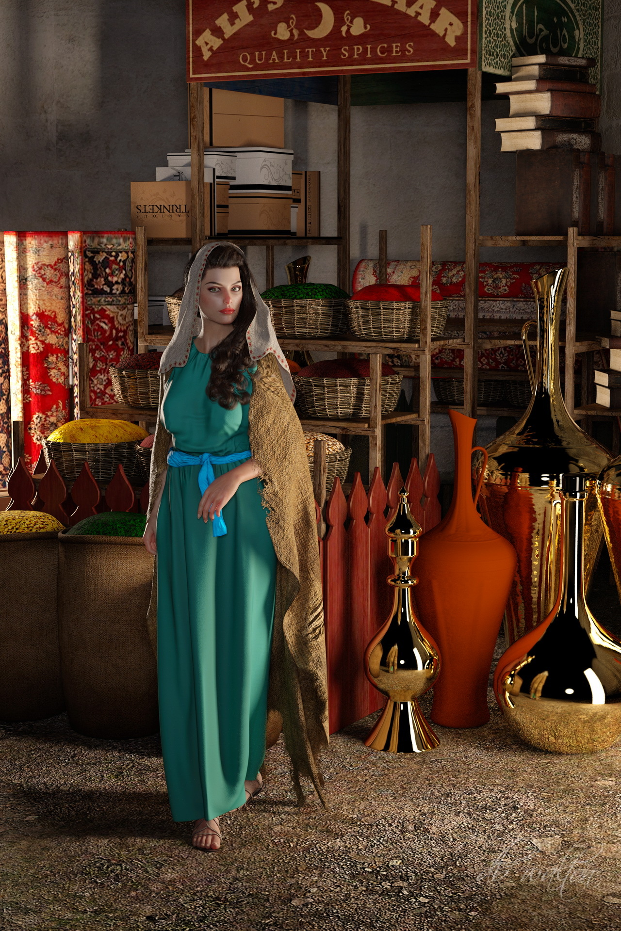 Shopping At the Bazaar I by dbwalton