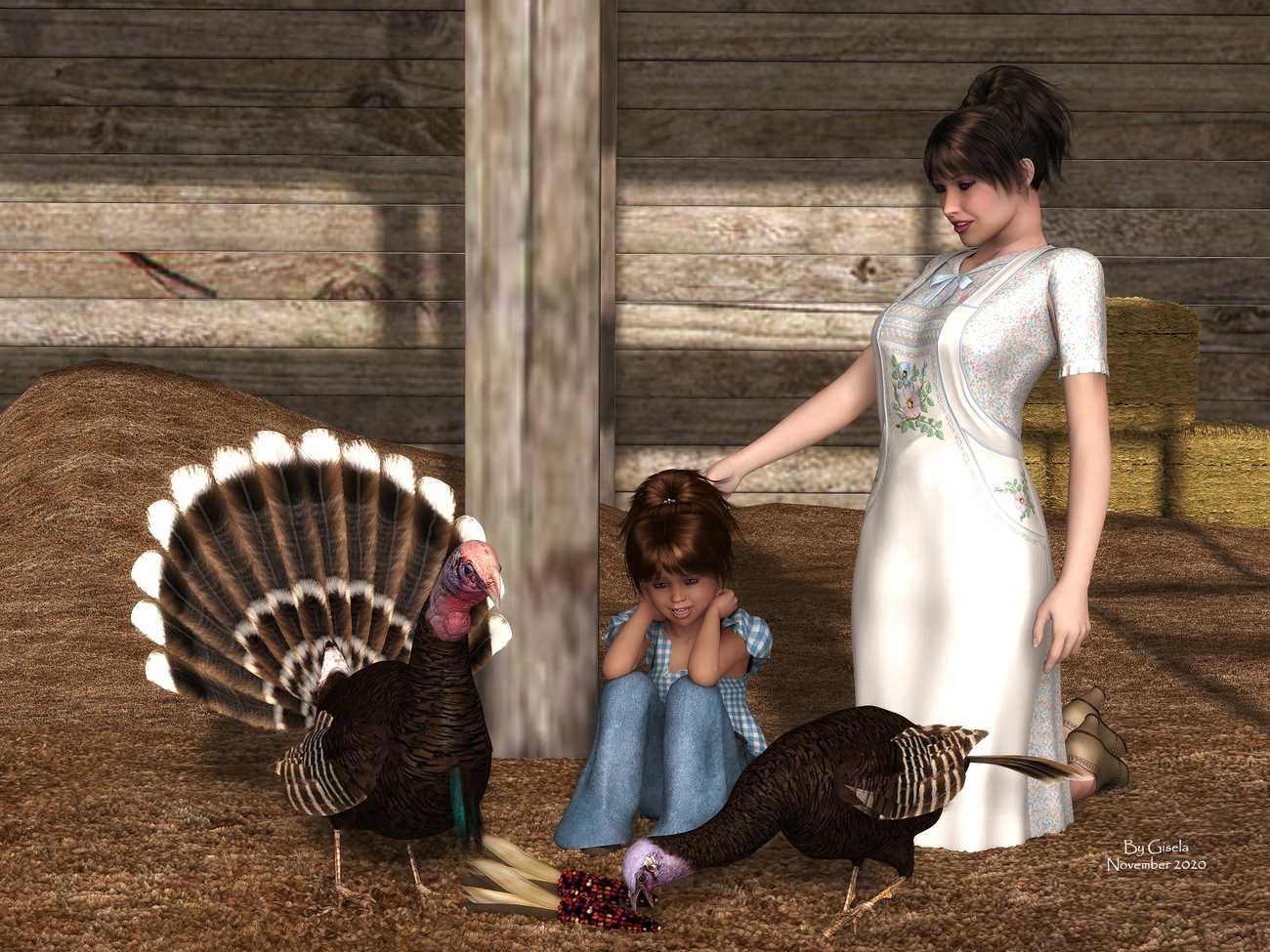 Happy Thanksgiving by Gisela
