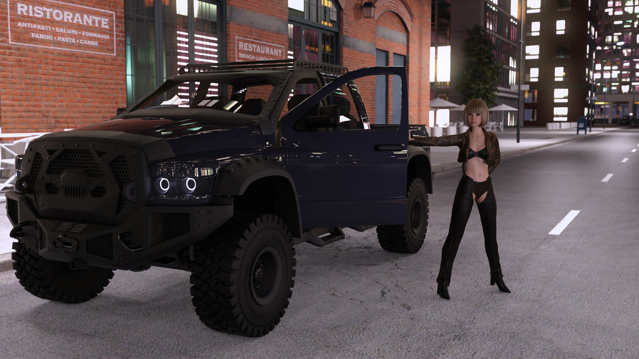 Zinnia and Bighorn Truck by x7