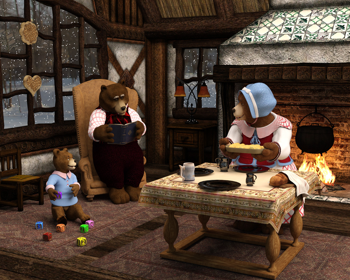 A day in the Bear family home by mininessie