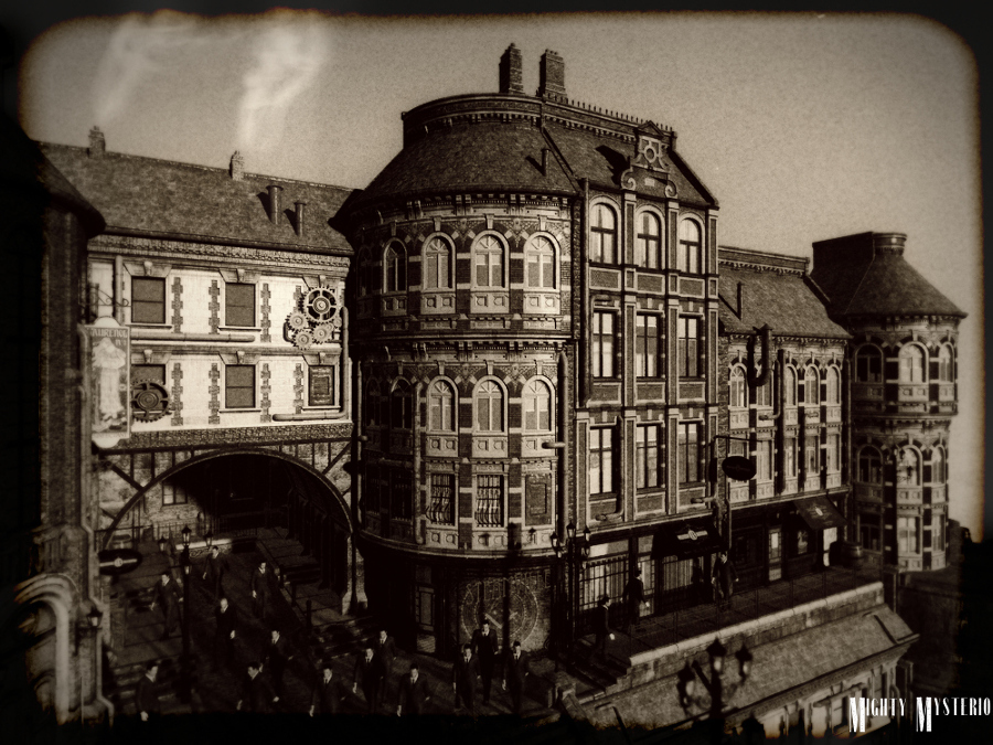 Vintage View of Steamville by mightymysterio