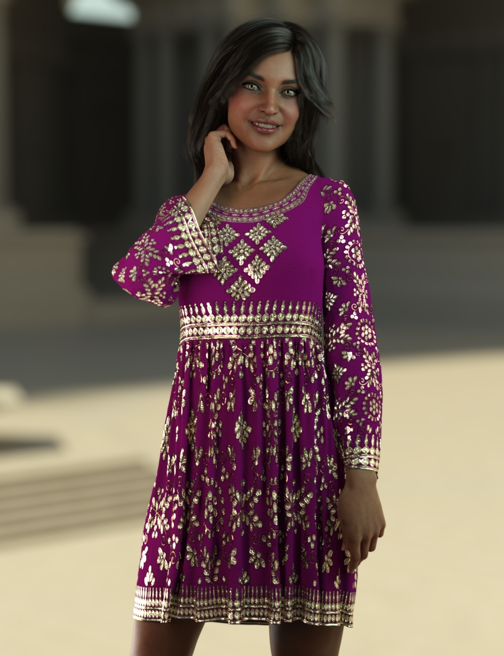 Indian girl with a beautiful tunic