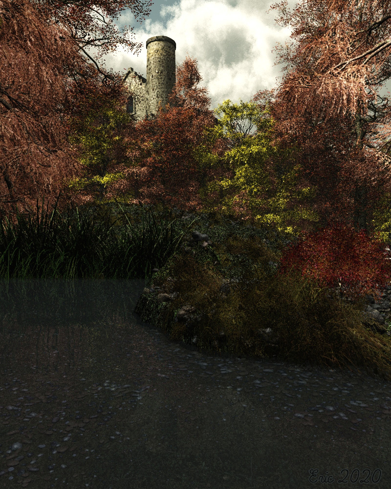 A simple relaxing landscape. by Ourias3D