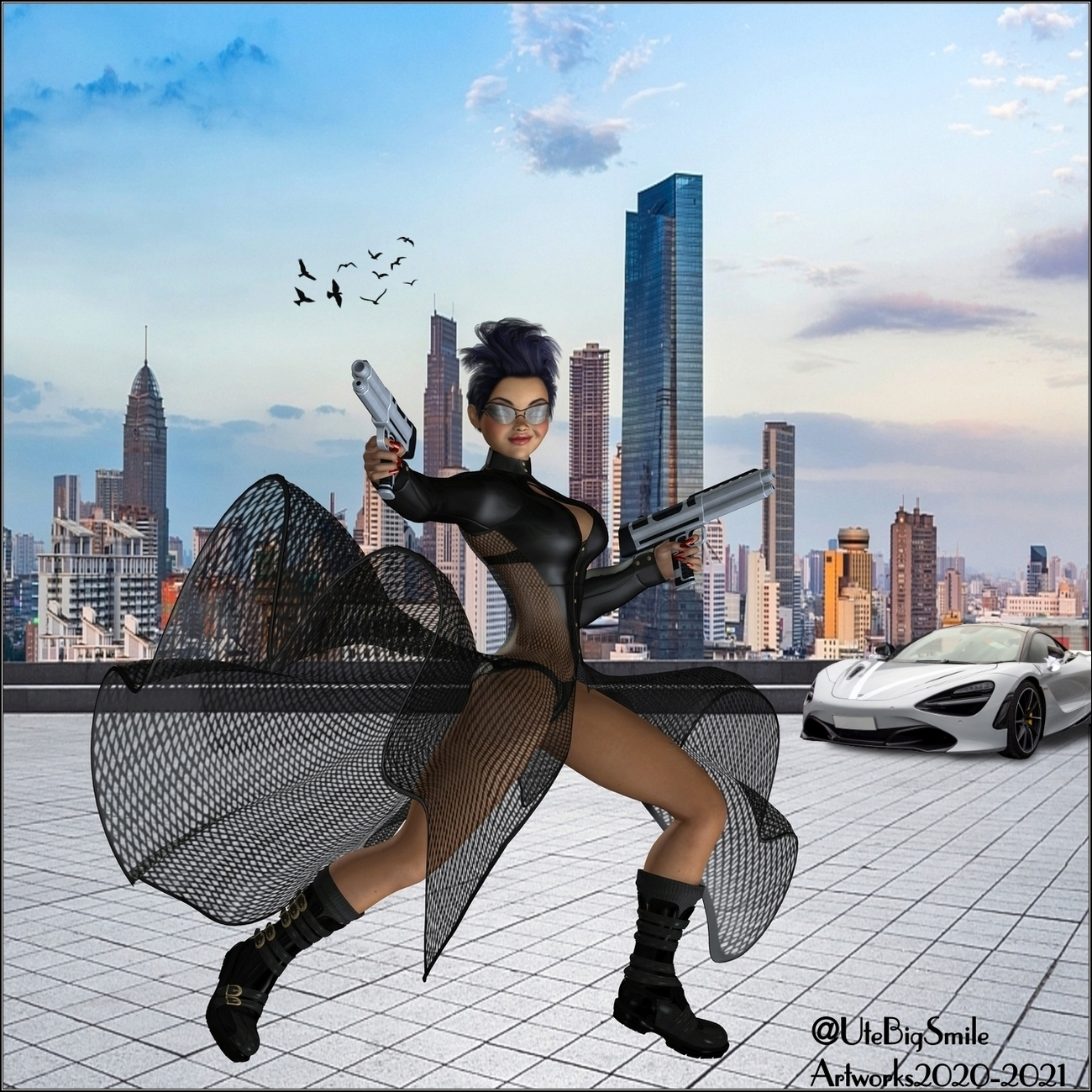 The Spygirl in Action (for Lyle) by UteBigSmile