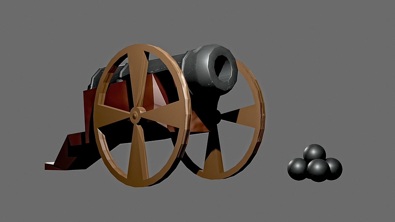 Simple cannon WIP Texture Test by OkrimSlava