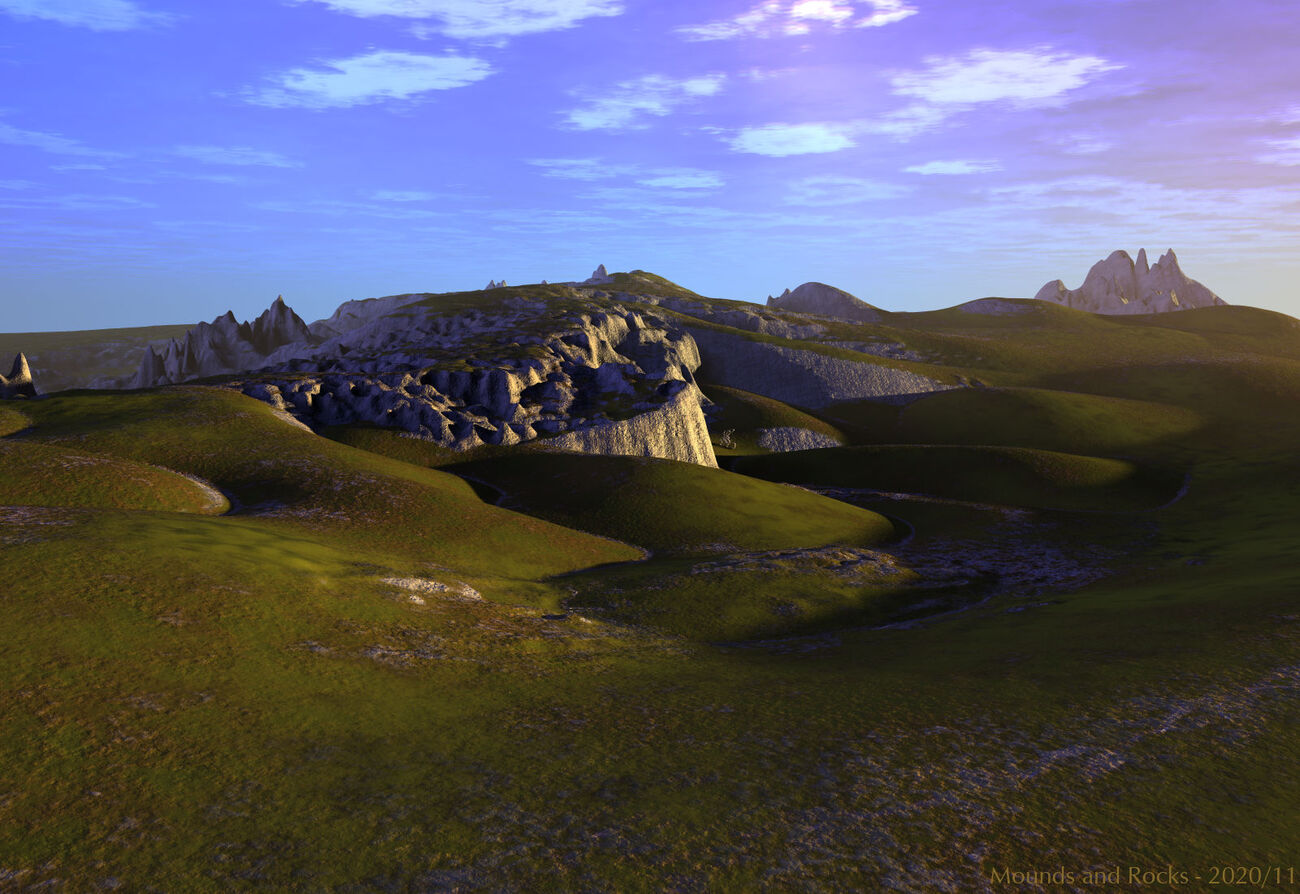 Mounds and Rocks by BryceHoro