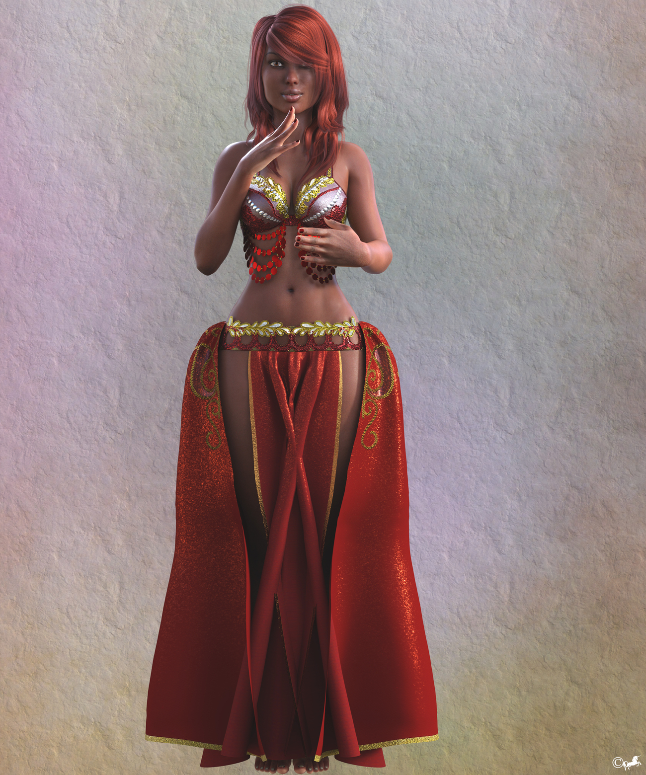 DAZ 935a or The belly dancer by miwi