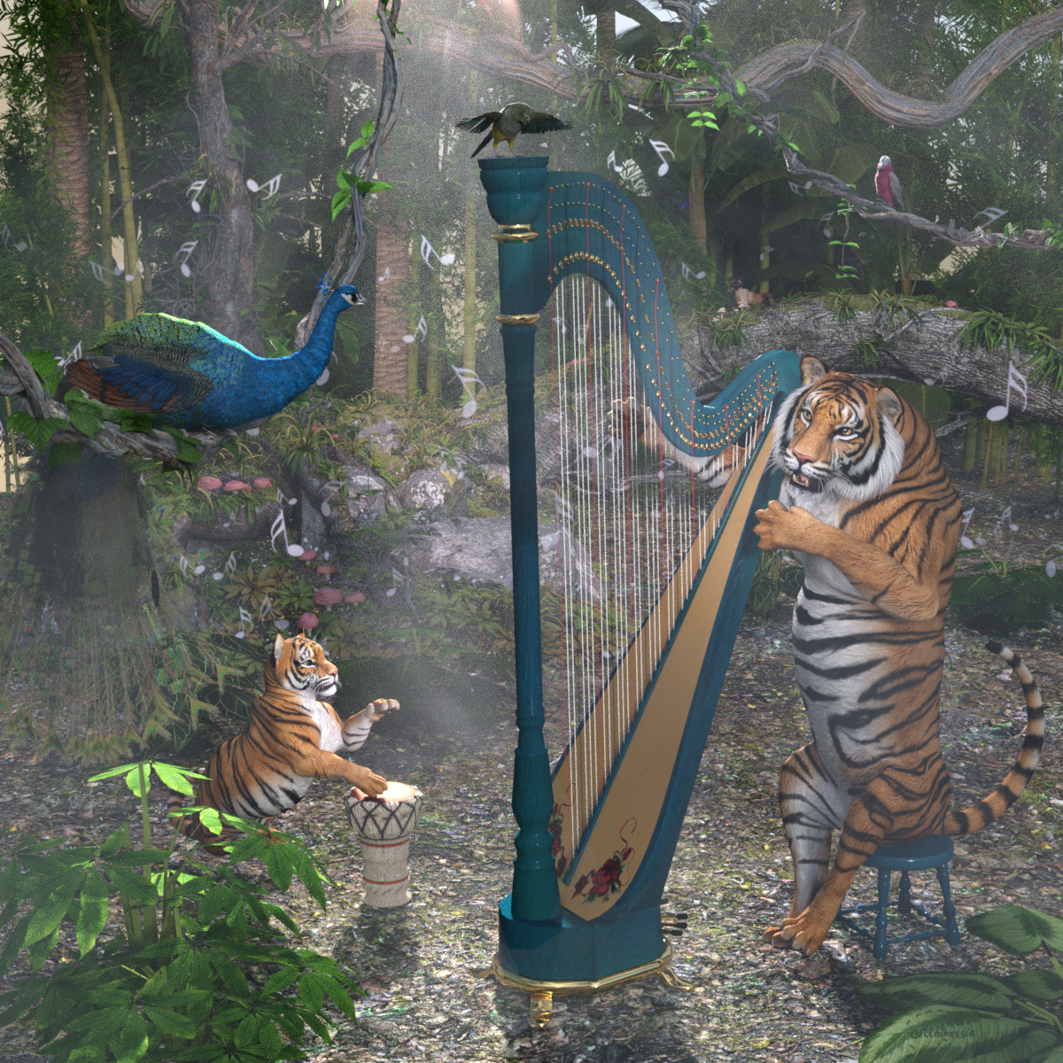 Concert in the jungle by mininessie