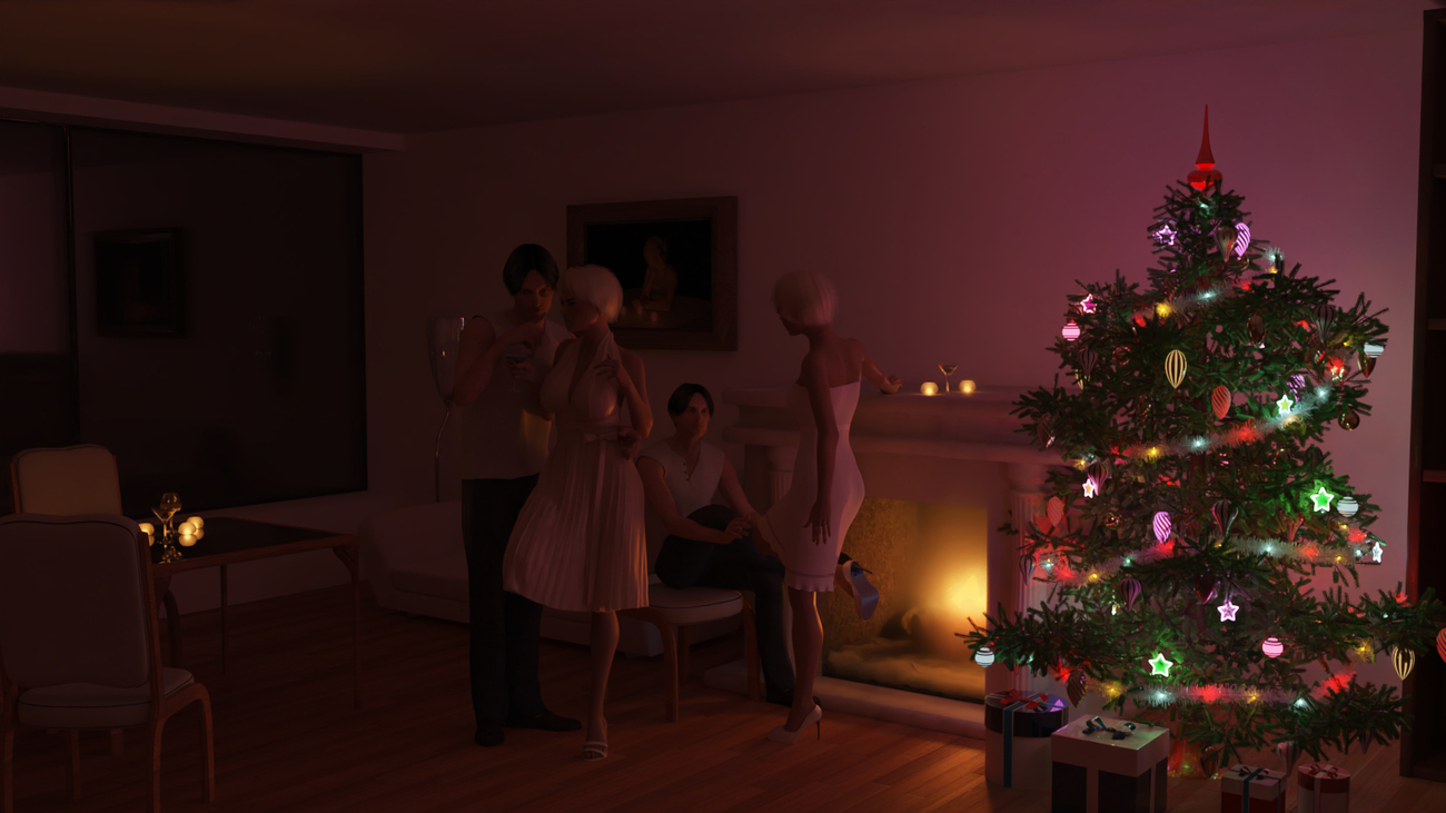 Christmas tree in a warm home by mifdesign
