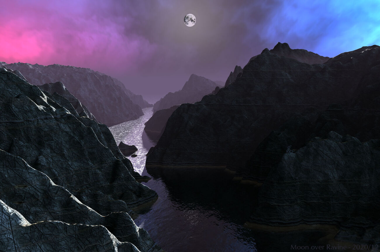 Moon over Ravine by BryceHoro