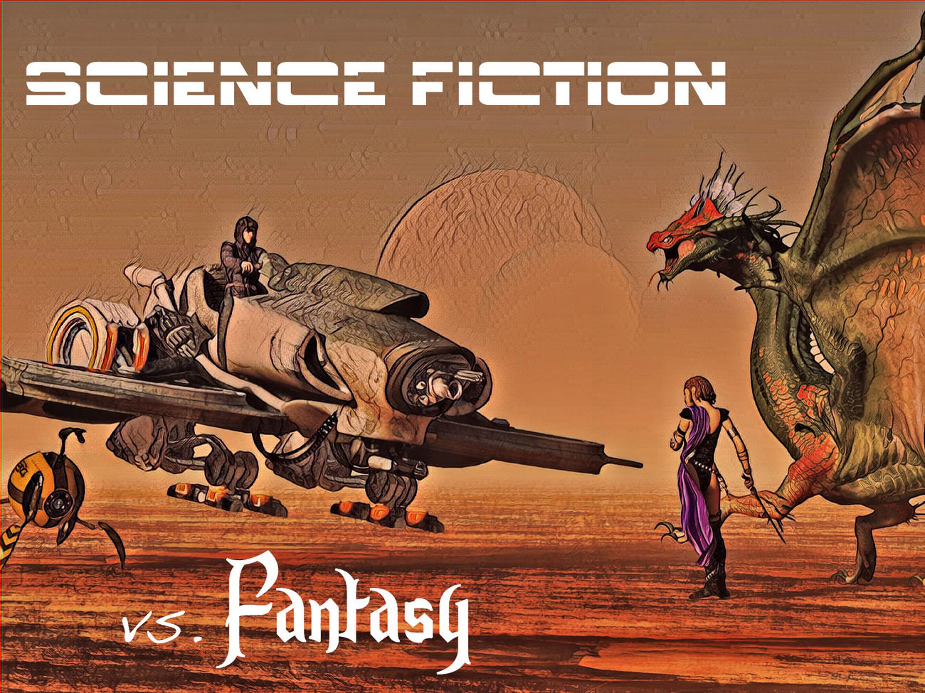 Science Fiction vs. Fantasy by rps53