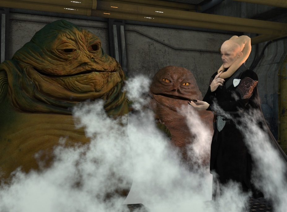 Taking a Steam with Jabba by StarGazer9