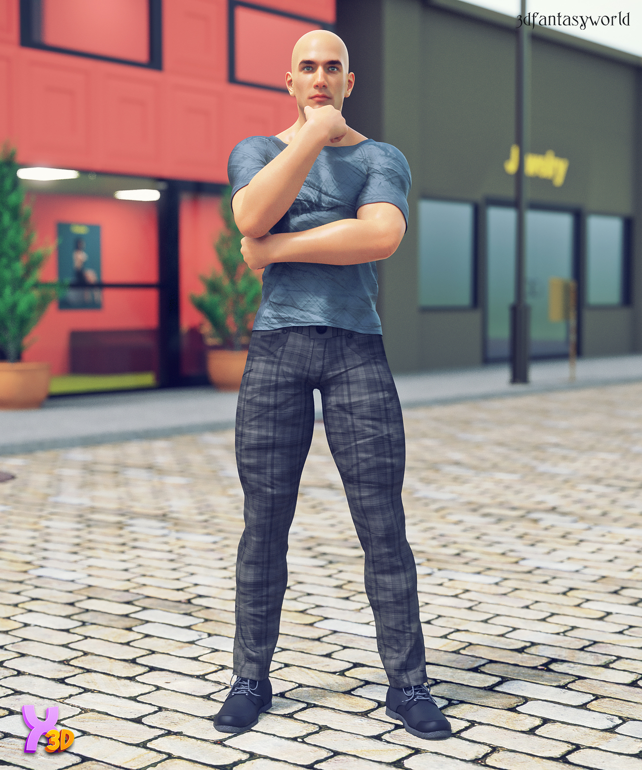 Casual 01 for Lyones Number 2 by fantasy3dworld