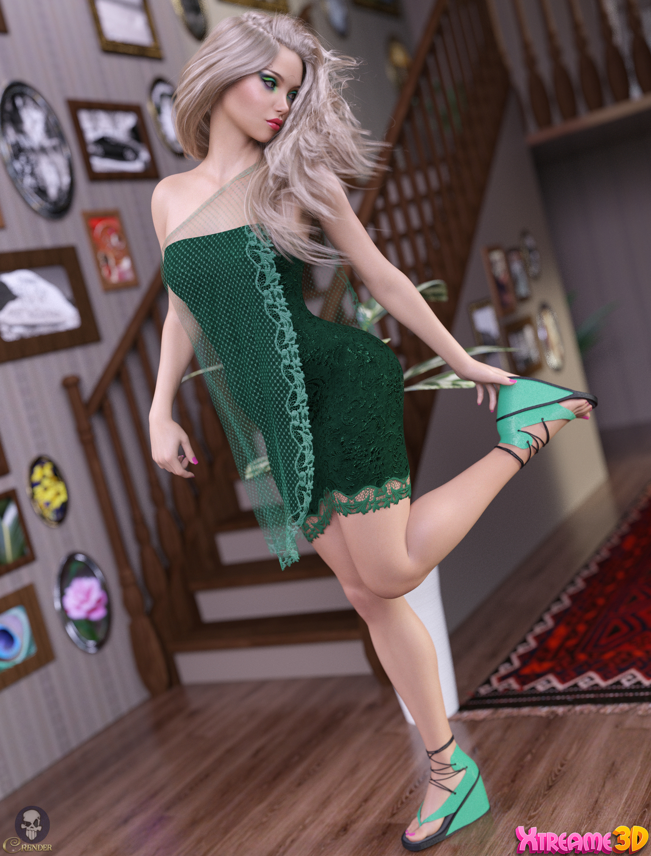 dForce SoftWind Outfit for G8F 5 by crender