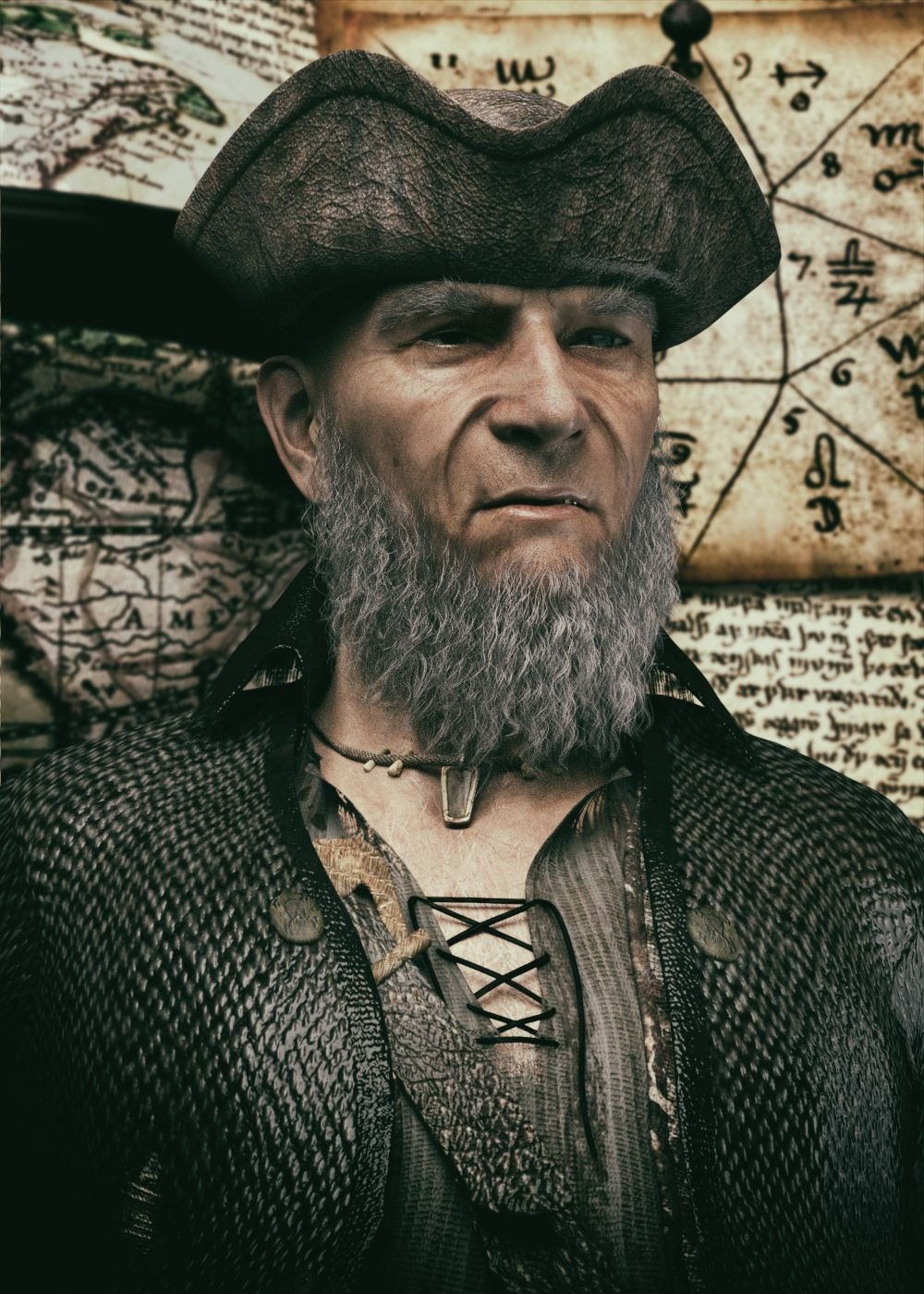 Portrait of an old Pirate by Krid