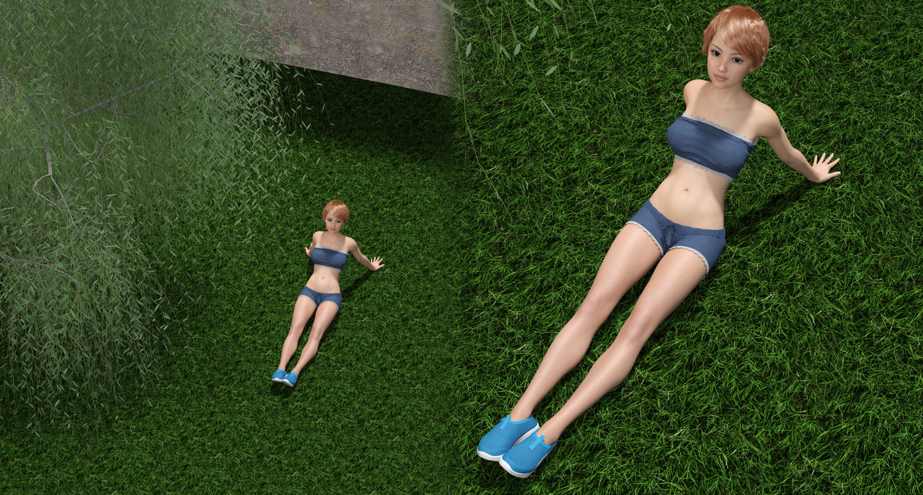 Zinnia physical exercises pose by x7