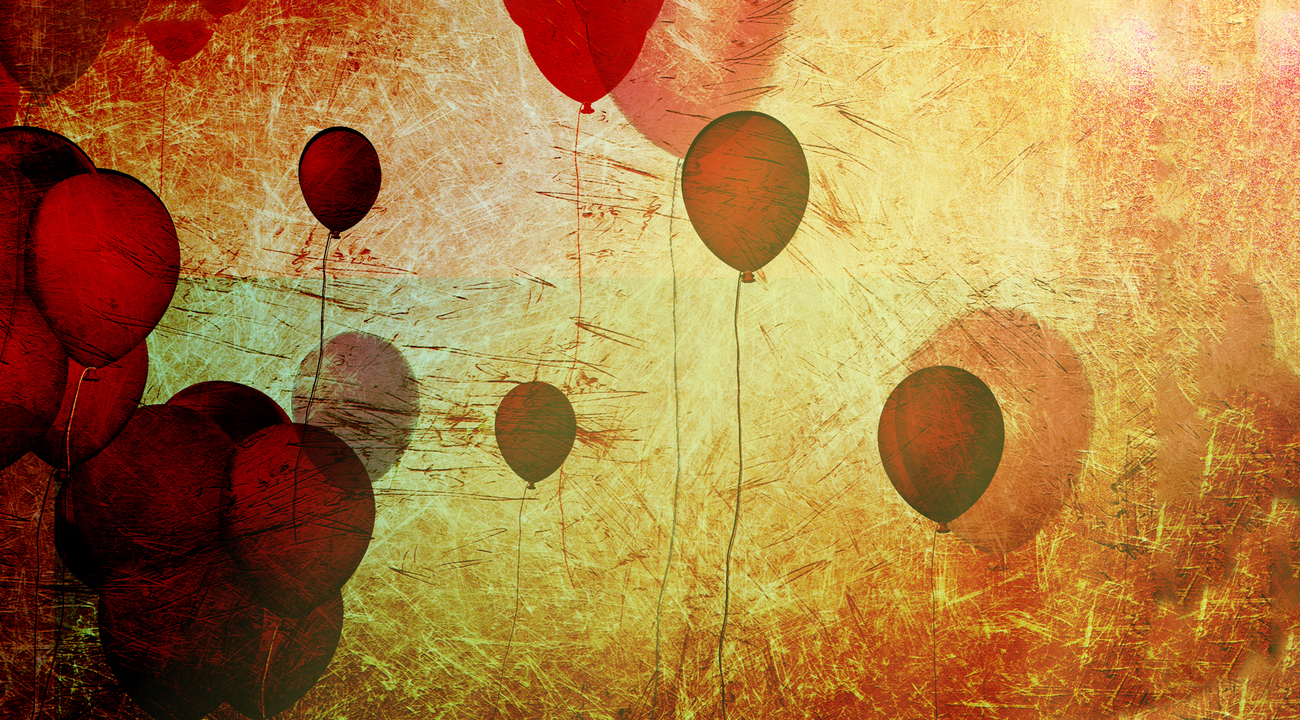 red balloons by Lorraine