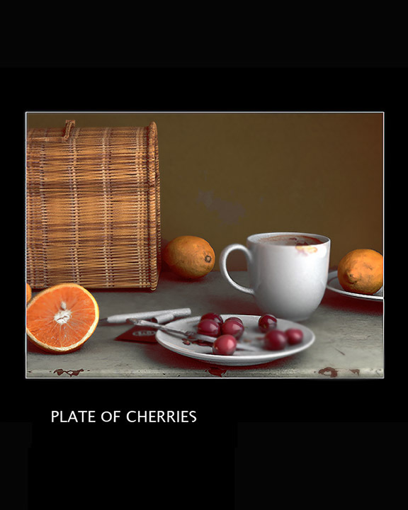 Plate of Cherries by Artformz2