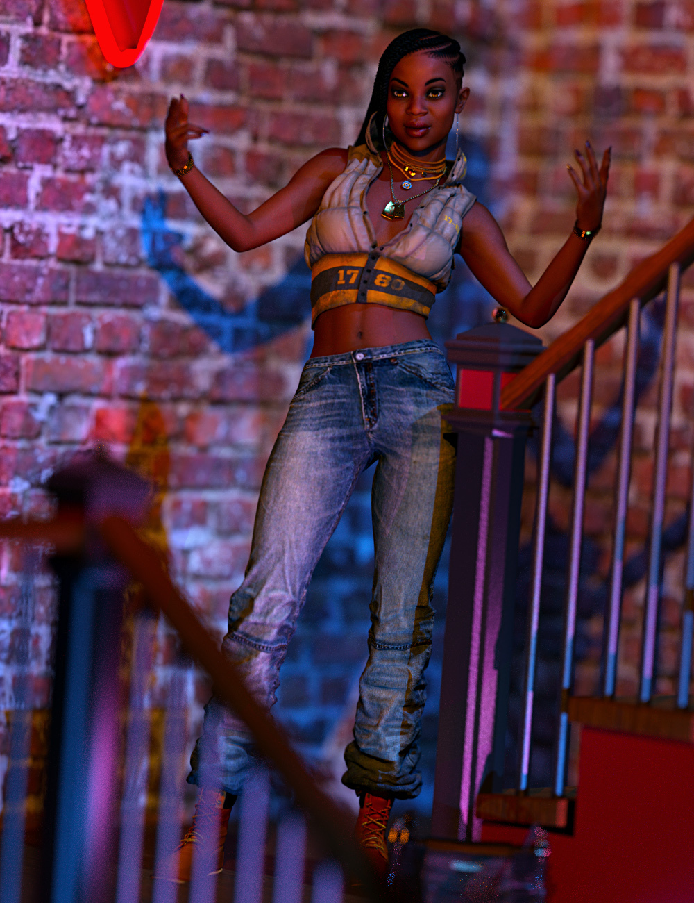 Tude At The Club by islandgirldesigns