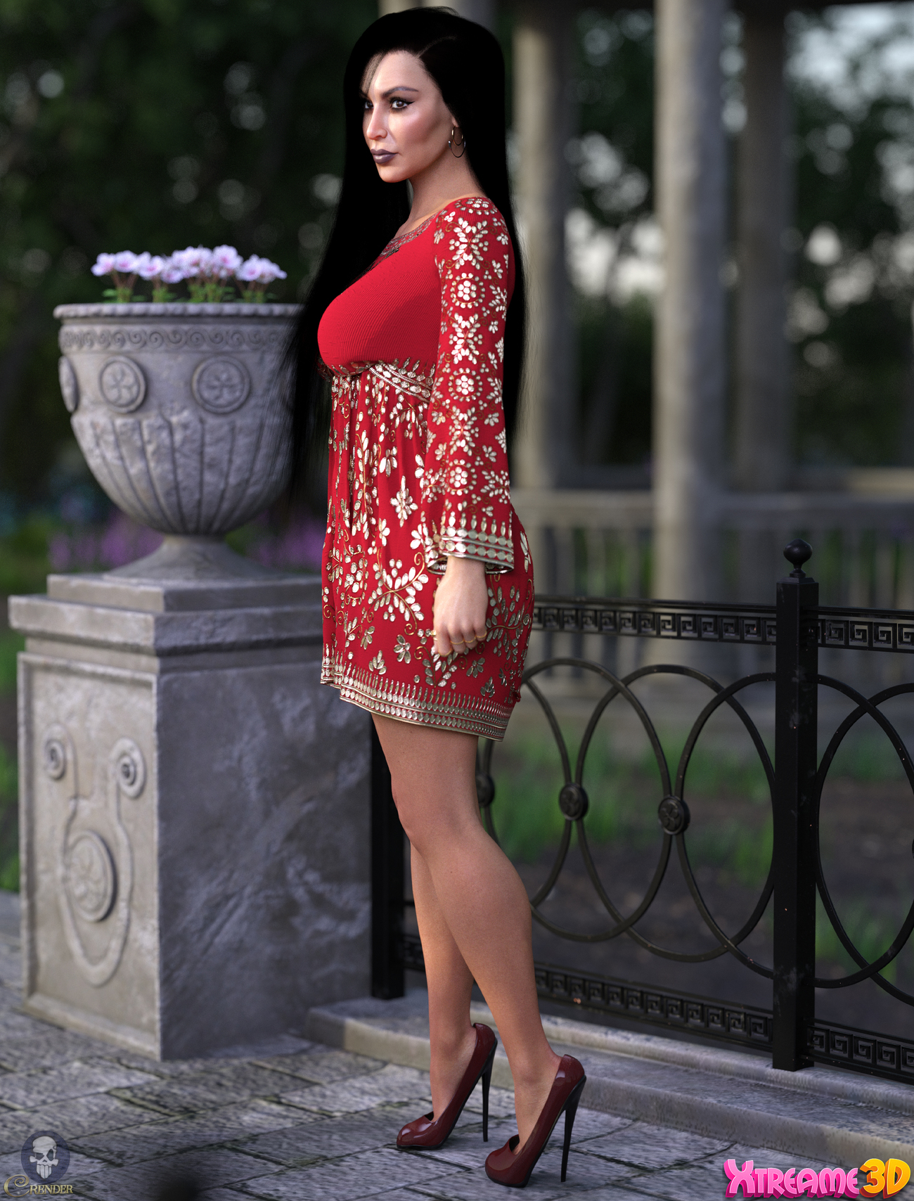 dForce Short Tunic for G8F by PinkLotus 3 by crender