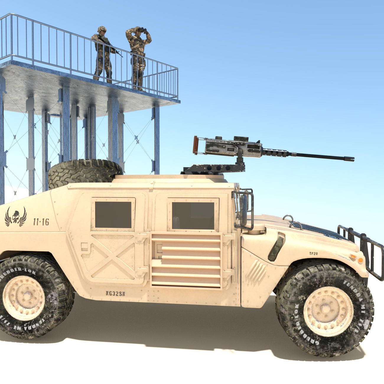 HMMWV and watchtower by x7