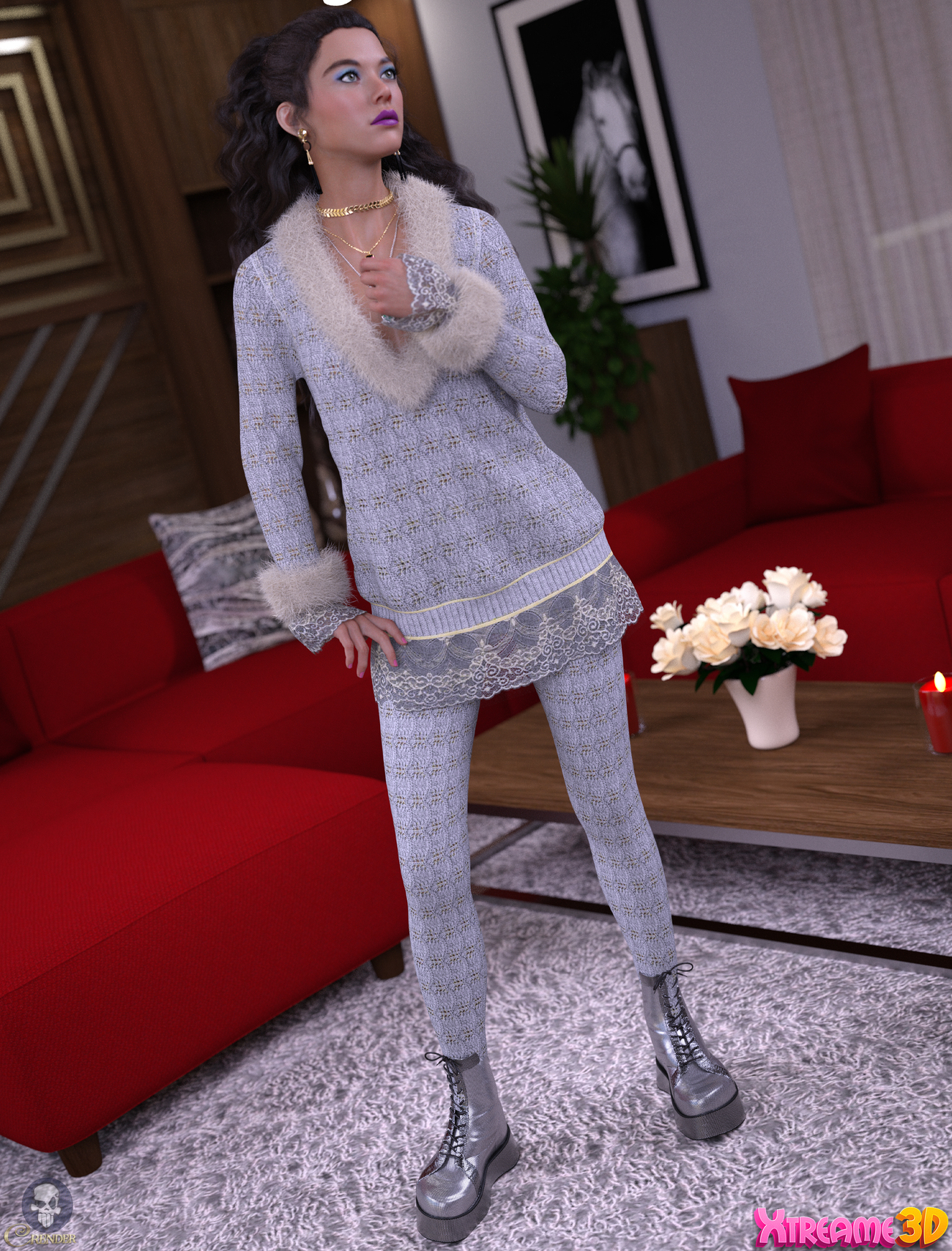 dforce Peppery2 SweaterDress Set G8F by Nirvy by crender