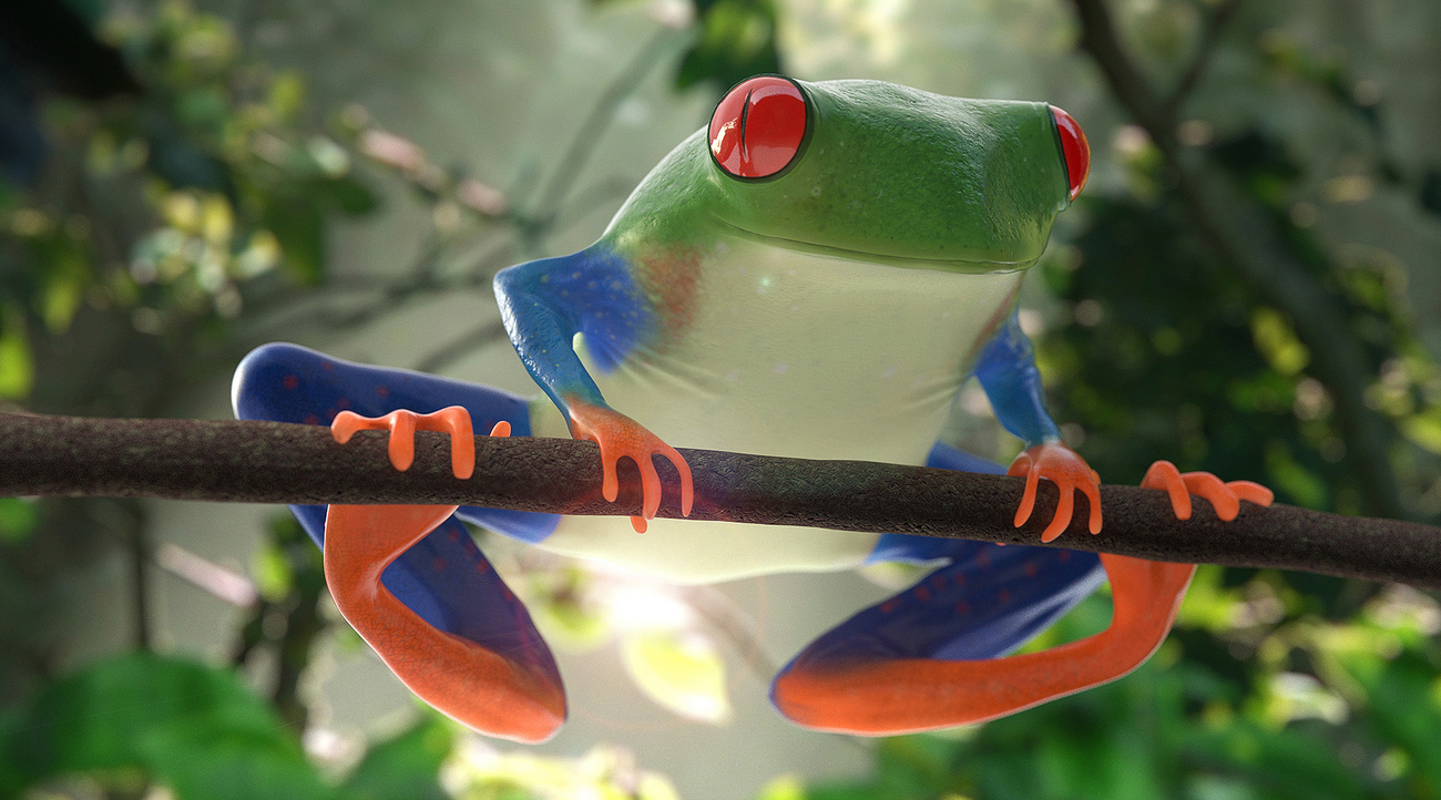 Tropical Tree Frog ( redux ) by Darkglass