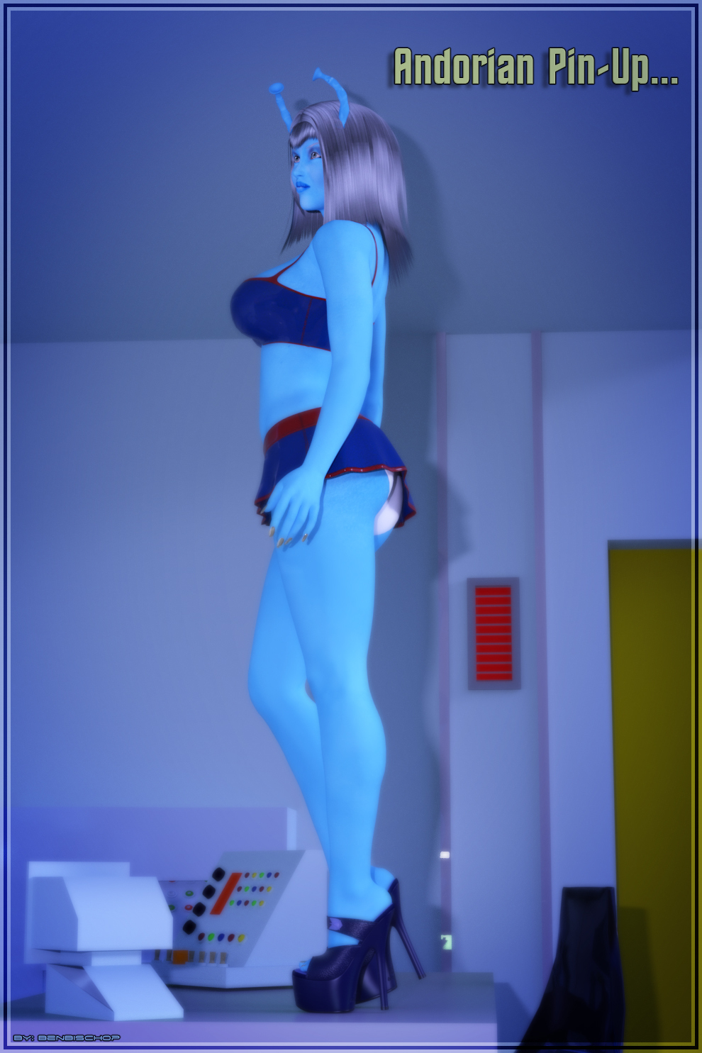 Andorian Pin-Up Prt 2.0... by BenBischop
