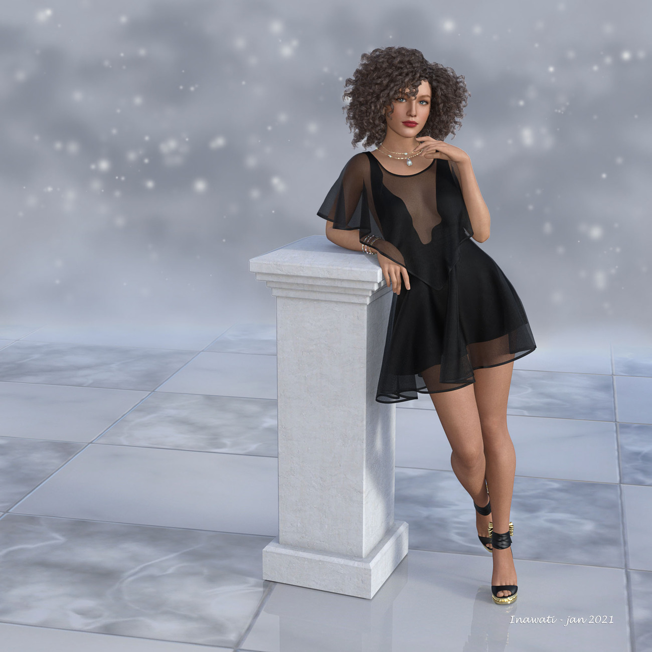 Dress in Black by Inawati